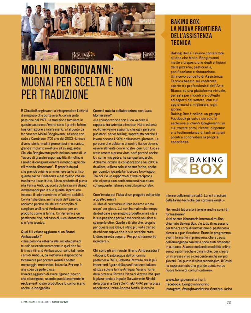 Valerio Torre Brand Ambassador di Molini Bongiovanni
